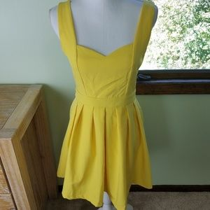 Tea n cup heart bright yellow mini dress